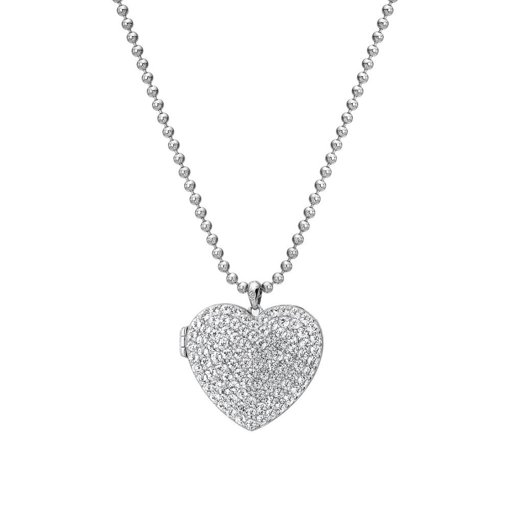 Stříbrný náhrdelník Hot Diamonds Memories Heart Locket DP770