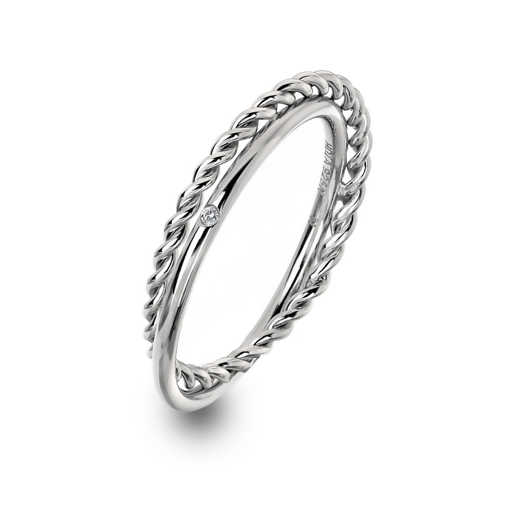 Støíbrný prsten Hot Diamonds Jasmine DR210