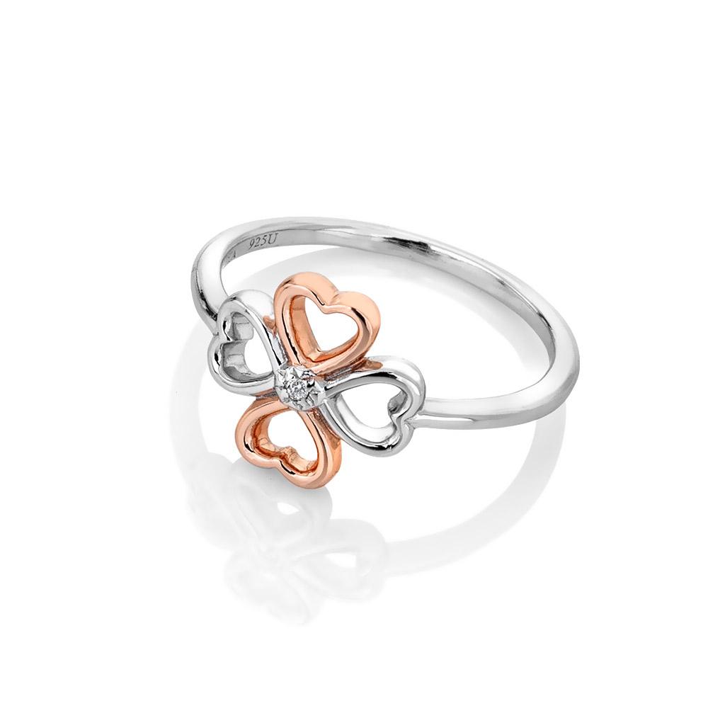 Stříbrný prsten Hot Diamonds Lucky in Love RG DR216
