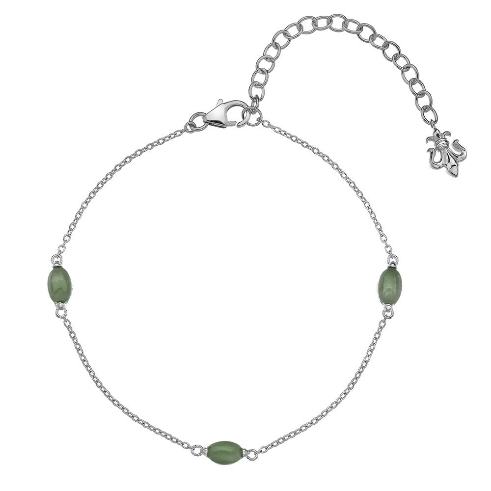 Náramek Hot Diamonds Anais zelený Aventurín AB003