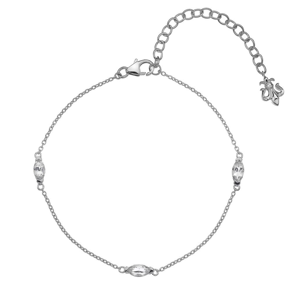 Náramek Hot Diamonds Anais bílý Topaz AB004