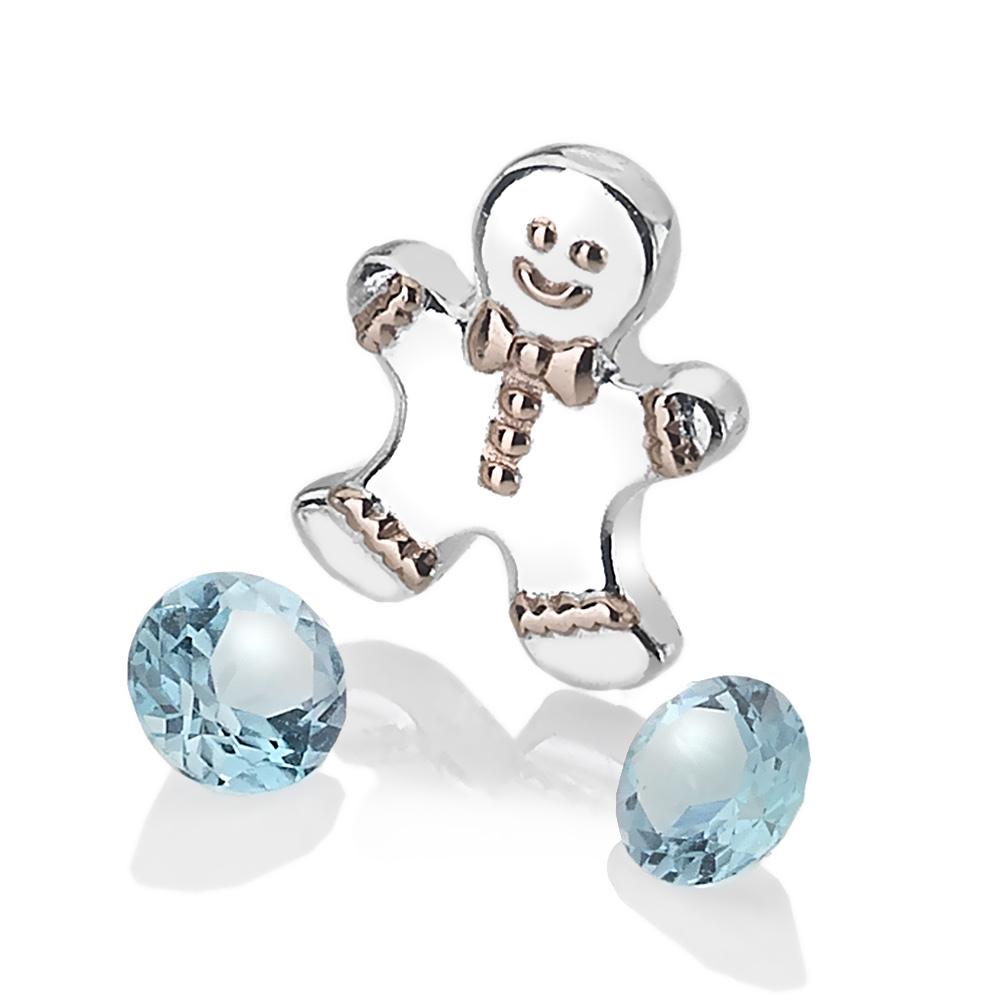 Pøívìsek Hot Diamonds Anais element panáèek modrý Topaz AC106