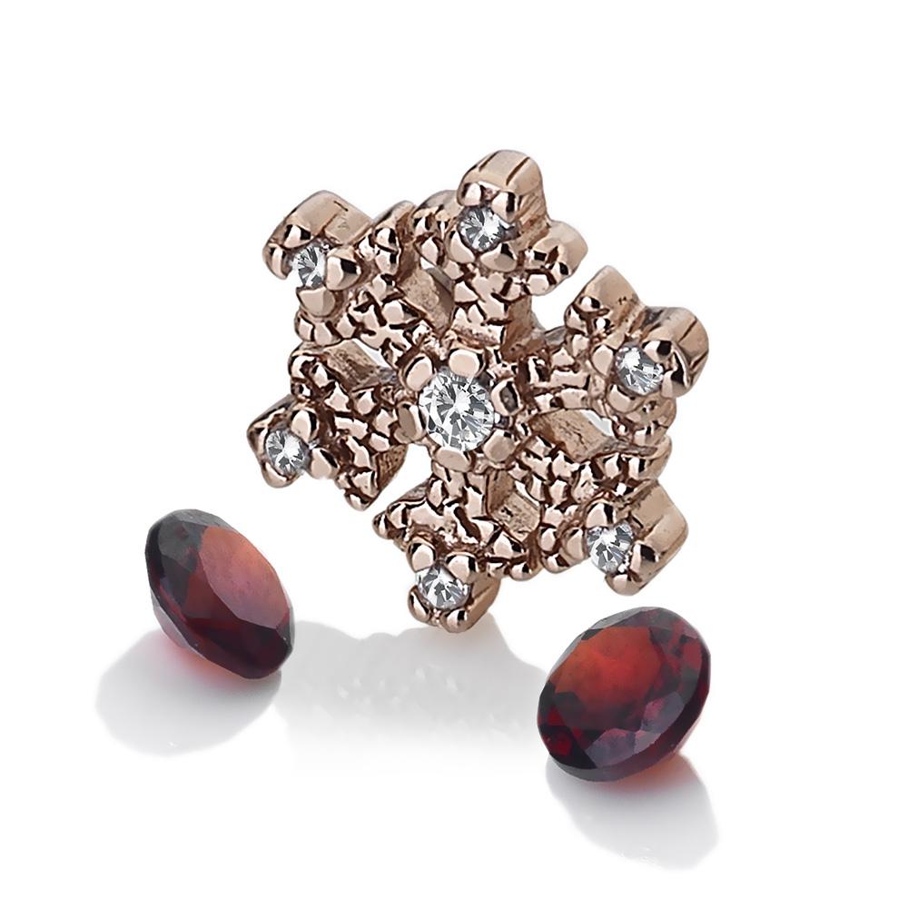 Pøívìsek Hot Diamonds Anais element vloèka Granat RG AC109