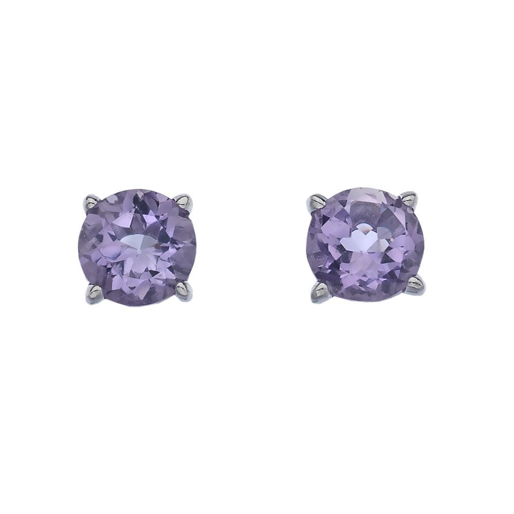 Stříbrné náušnice Hot Diamonds Anais Ametyst AE002
