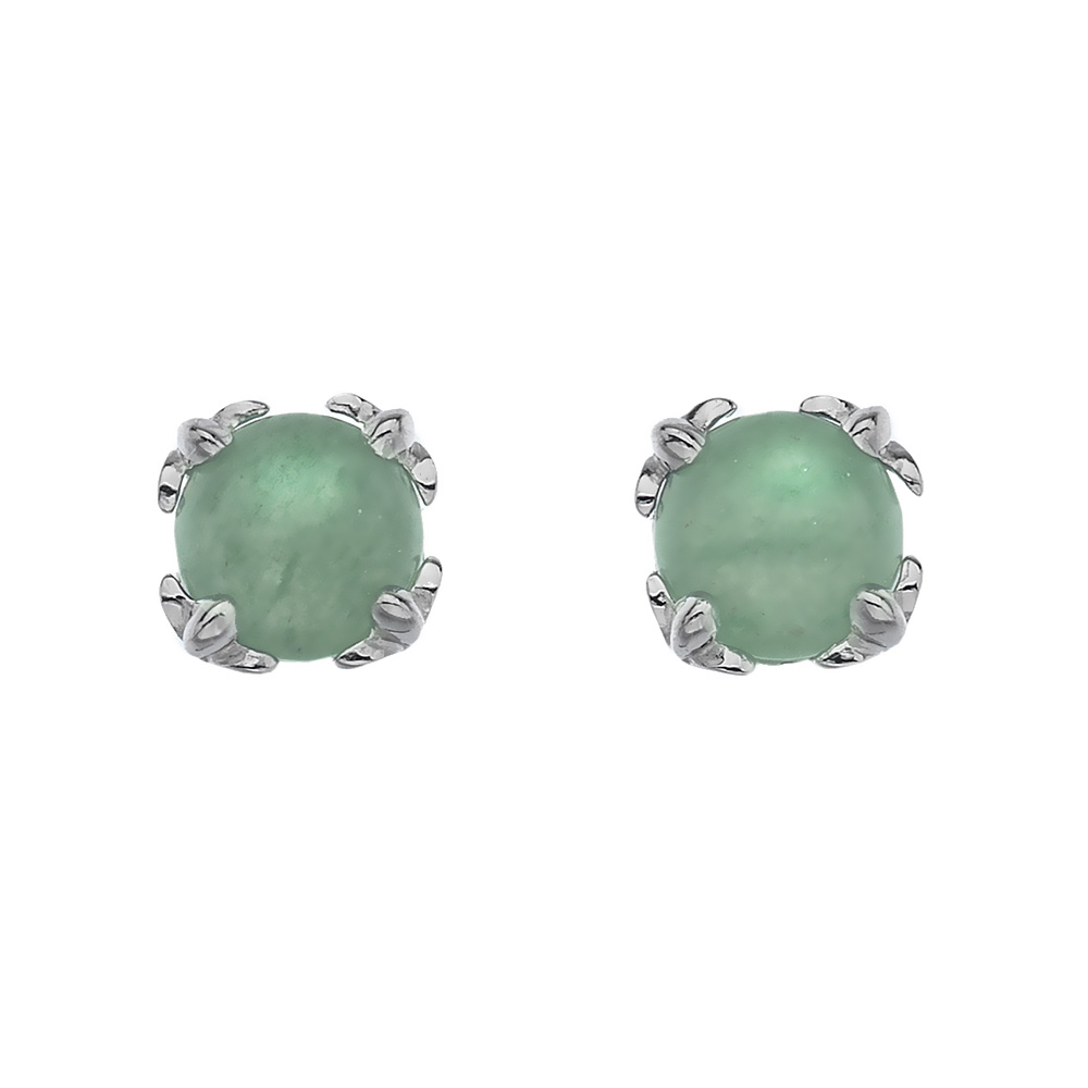 Støíbrné náušnice Hot Diamonds Anais zelený Aventurín AE003