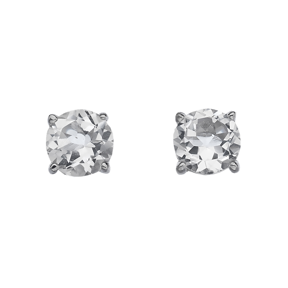 Støíbrné náušnice Hot Diamonds Anais bílý Topaz  AE004