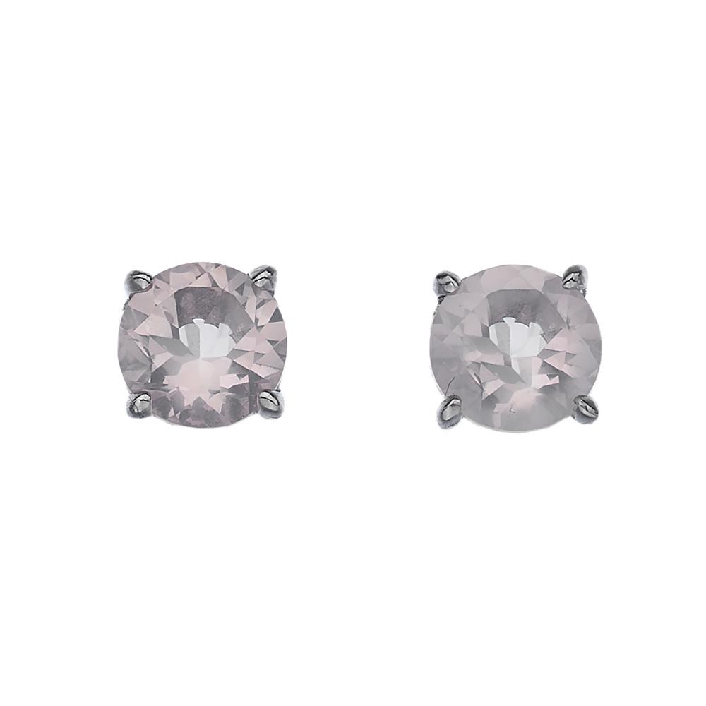 Støíbrné náušnice Hot Diamonds Anais rùžový køemen AE010