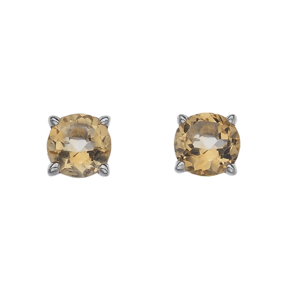 Støíbrné náušnice Hot Diamonds Anais Citrin AE011