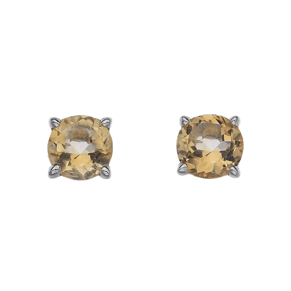 Stříbrné náušnice Hot Diamonds Anais Citrin AE011