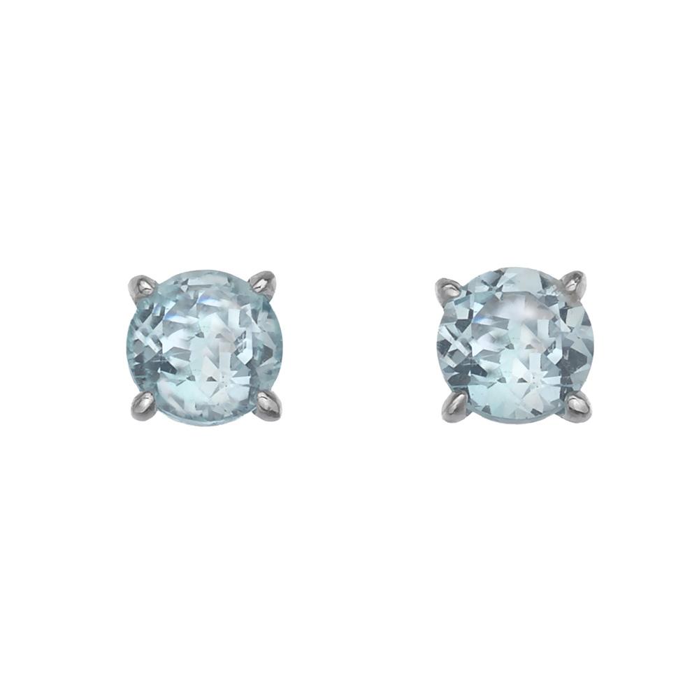 Støíbrné náušnice Hot Diamonds Anais modrý Topaz AE012
