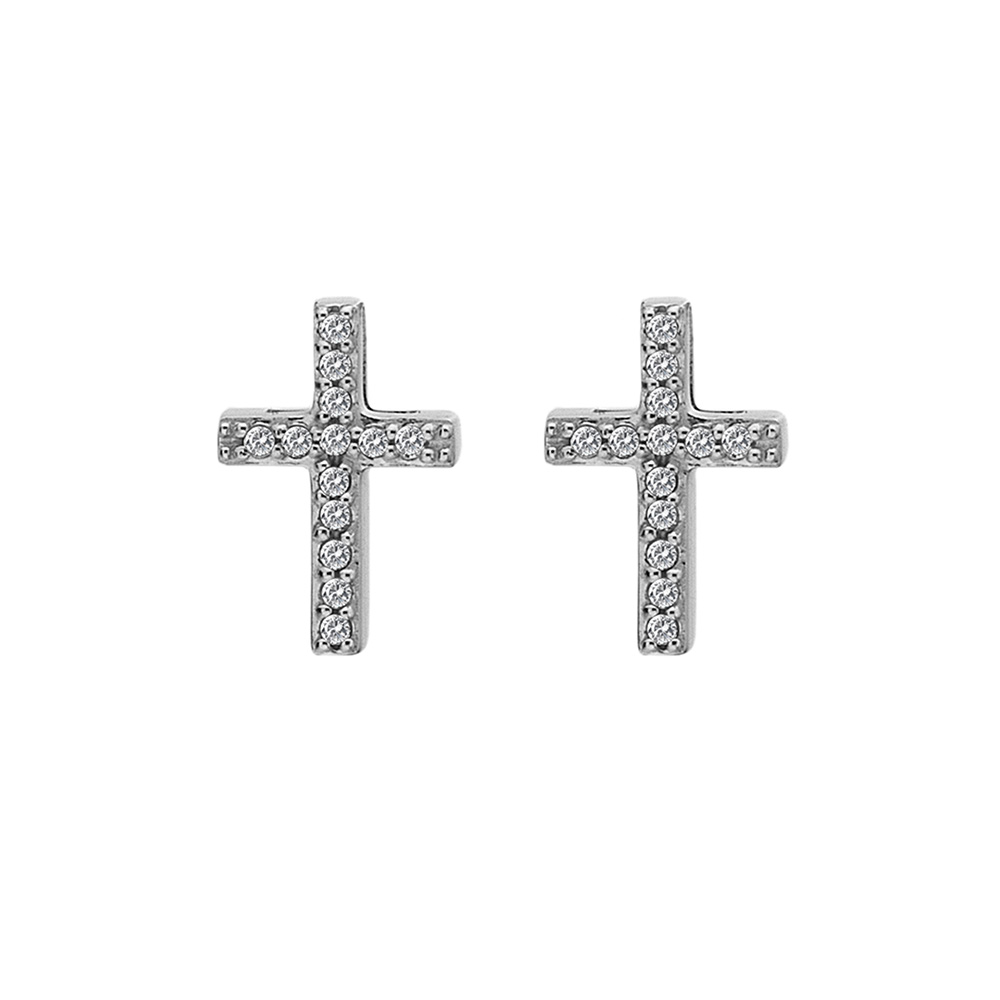 Støíbrné náušnice Hot Diamonds Cross Micro Bliss DE552