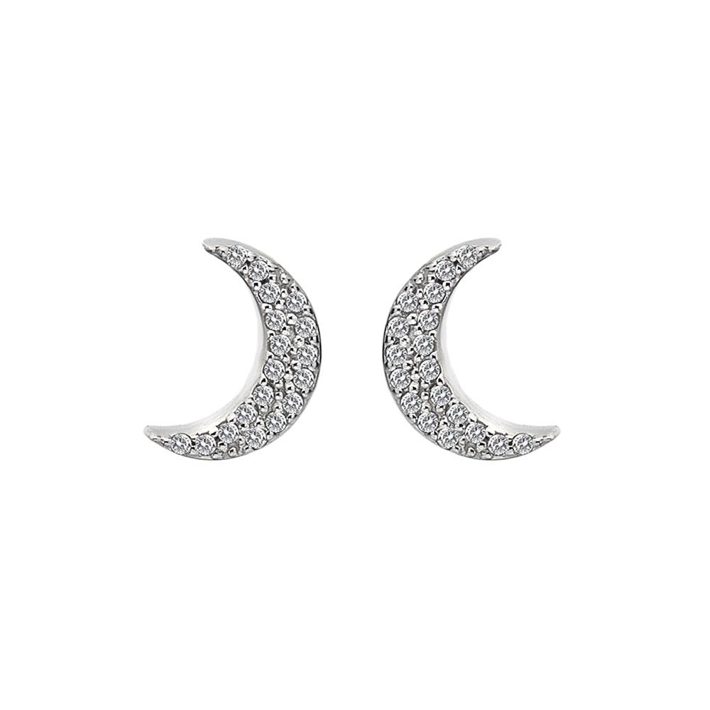 Støíbrné náušnice Hot Diamonds Crescent Micro Bliss DE553