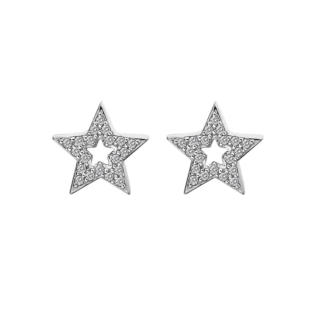 Støíbrné náušnice Hot Diamonds Star Micro Bliss DE554