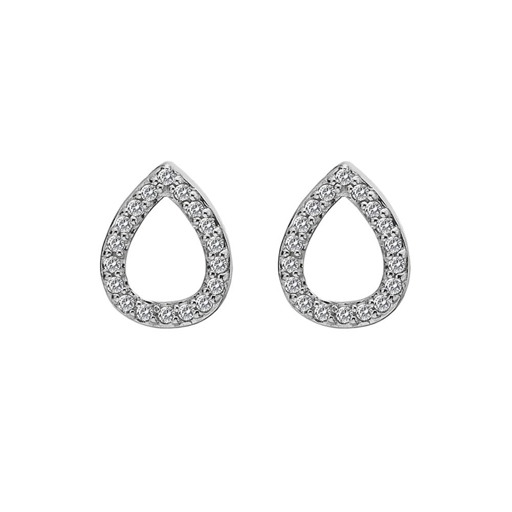 Støíbrné náušnice Hot Diamonds Teardrop Micro Bliss DE555