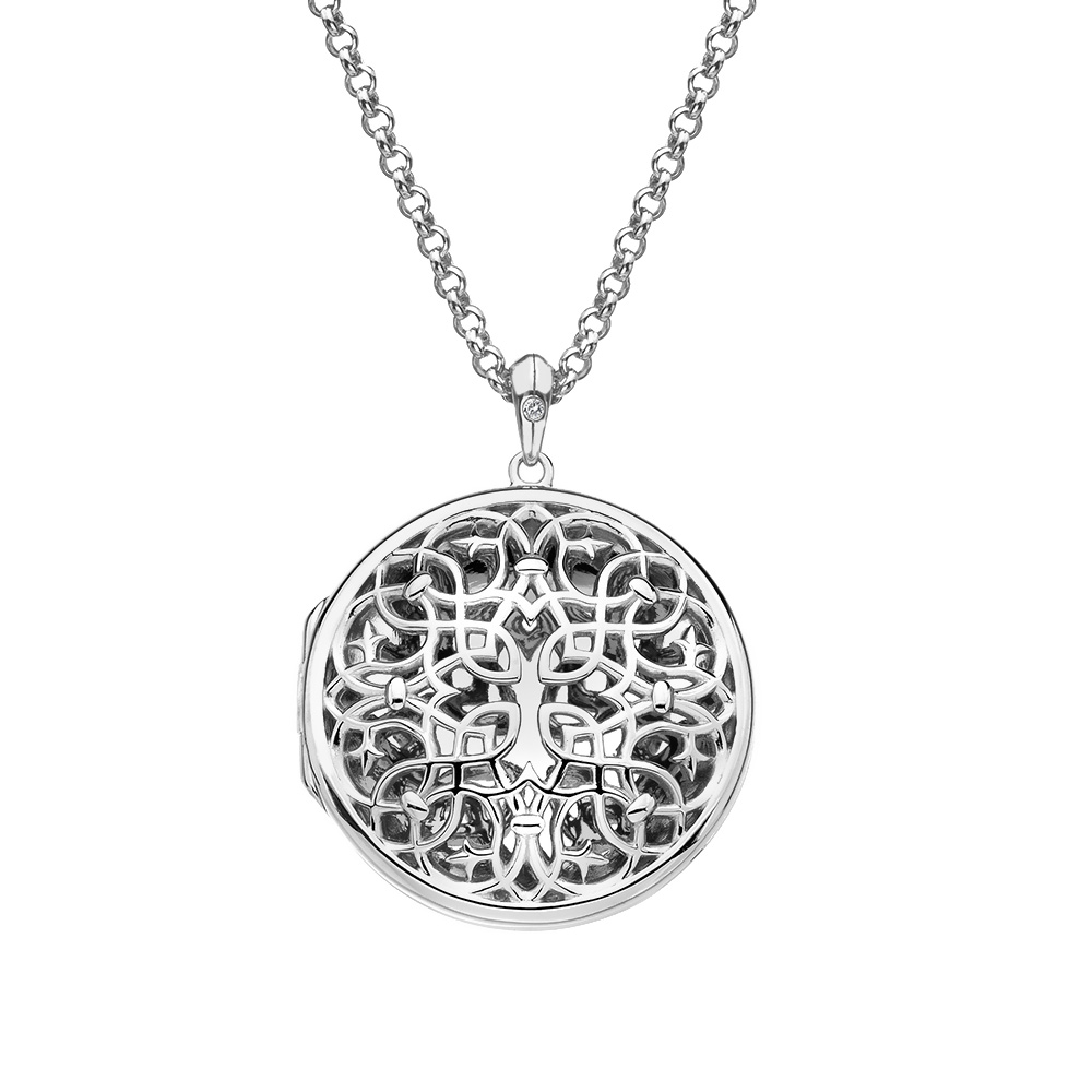 Pøívìsek Hot Diamonds Large Circle Filigree Locket DP665