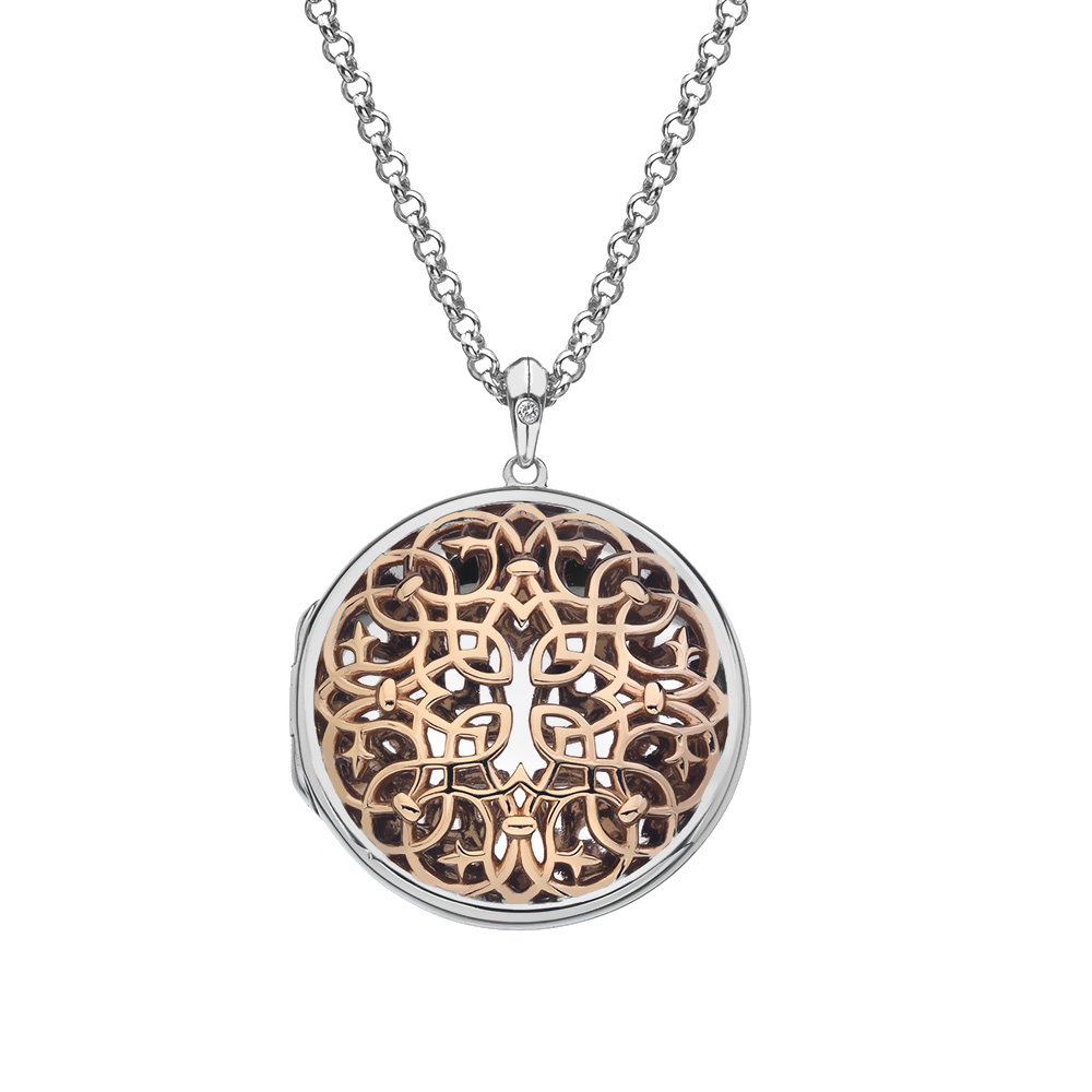 Přívěsek Hot Diamonds Large Circle Filigree Locket RG DP666