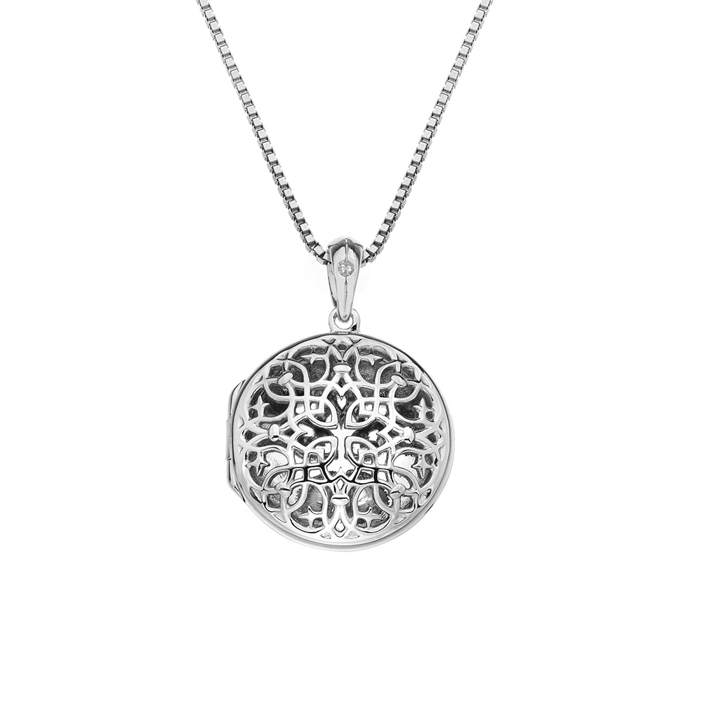 Pøívìsek Hot Diamonds Small Circle Filigree Locket DP667