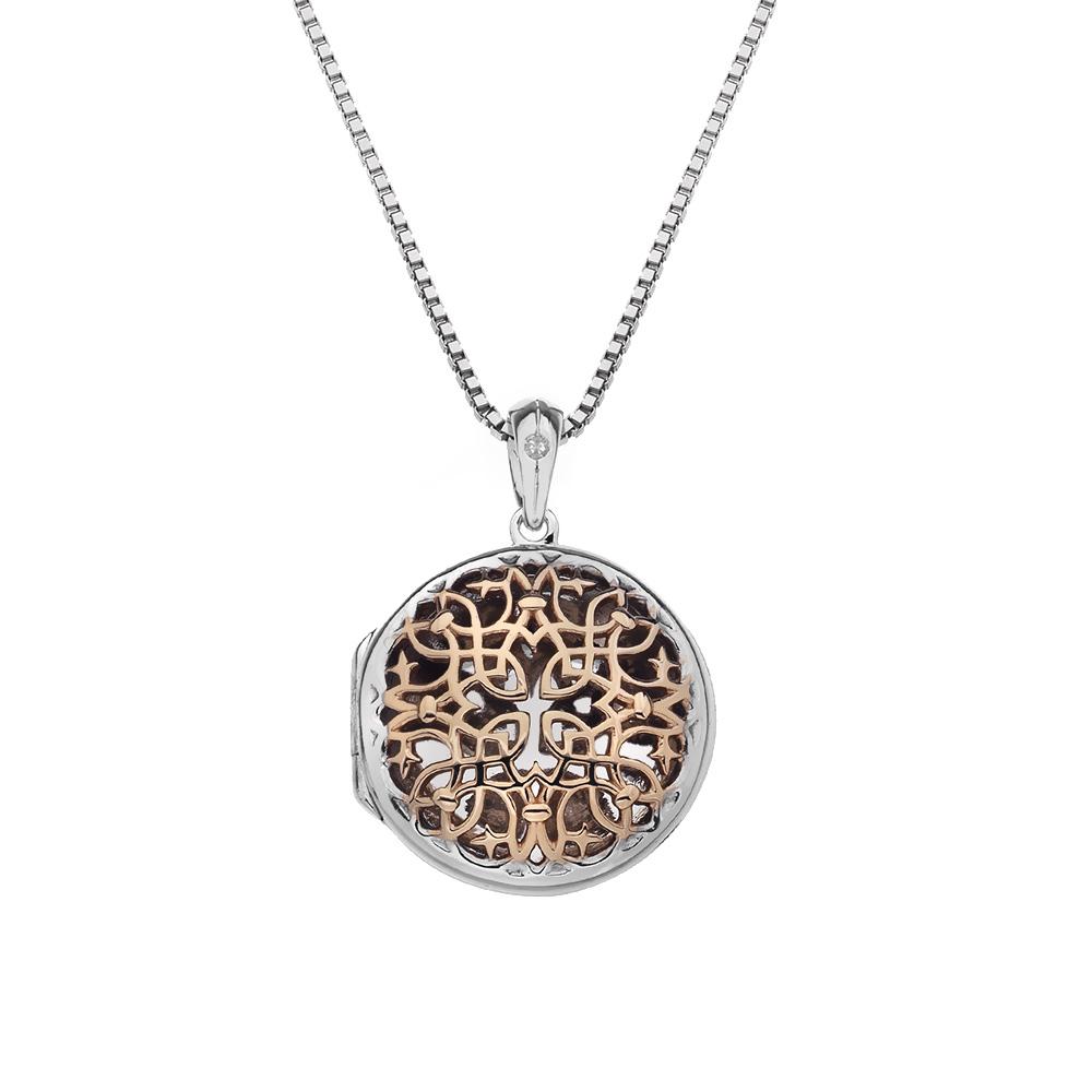 Pøívìsek Hot Diamonds Small Circle Filigree Locket RG DP668