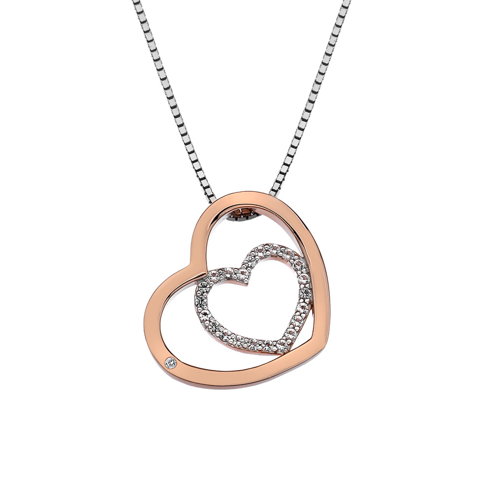 Støíbrný pøívìsek Hot Diamonds Adorable Encased Rose Gold DP692