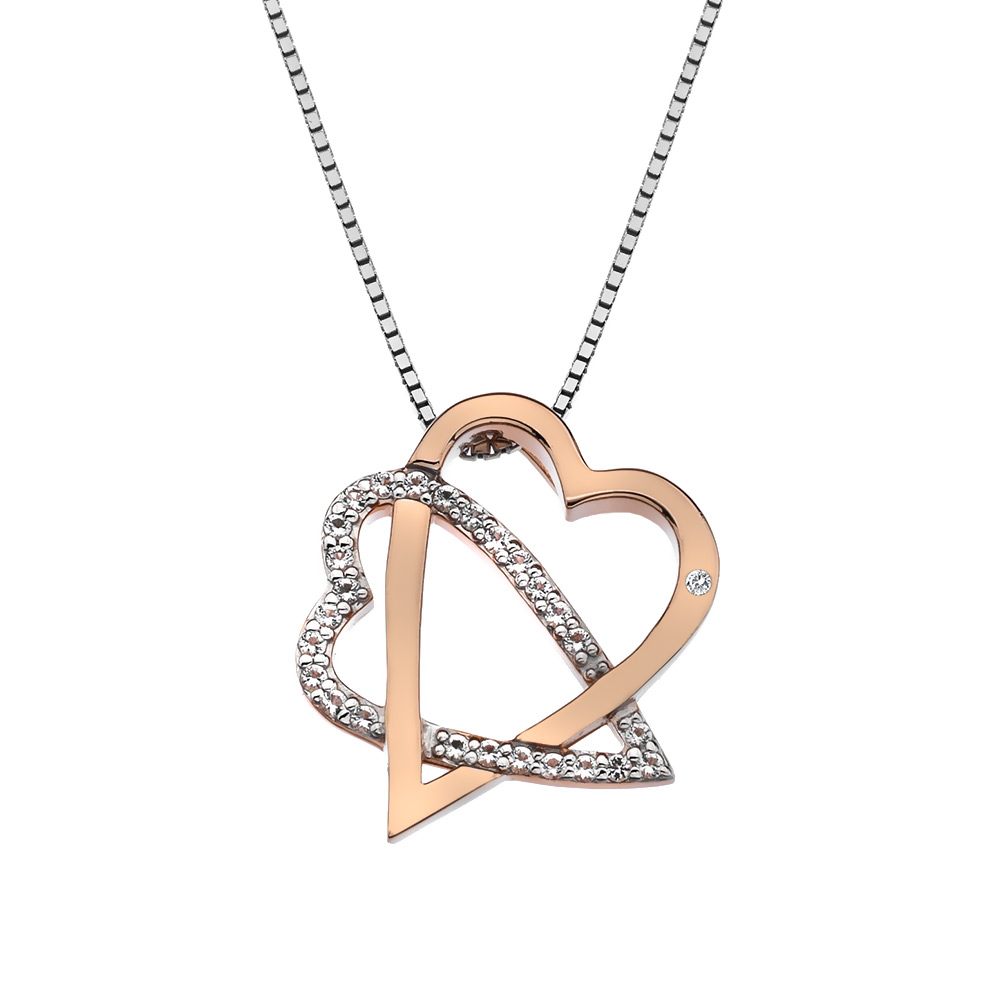 Støíbrný pøívìsek Hot Diamonds Adorable Rose Gold DP694