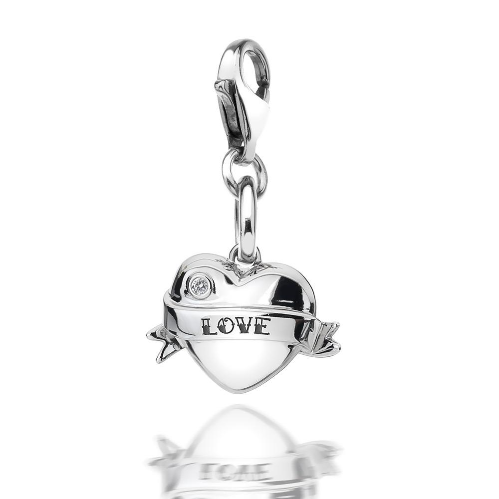 Pøívìsek Hot Diamonds Love Heart Charm DT241