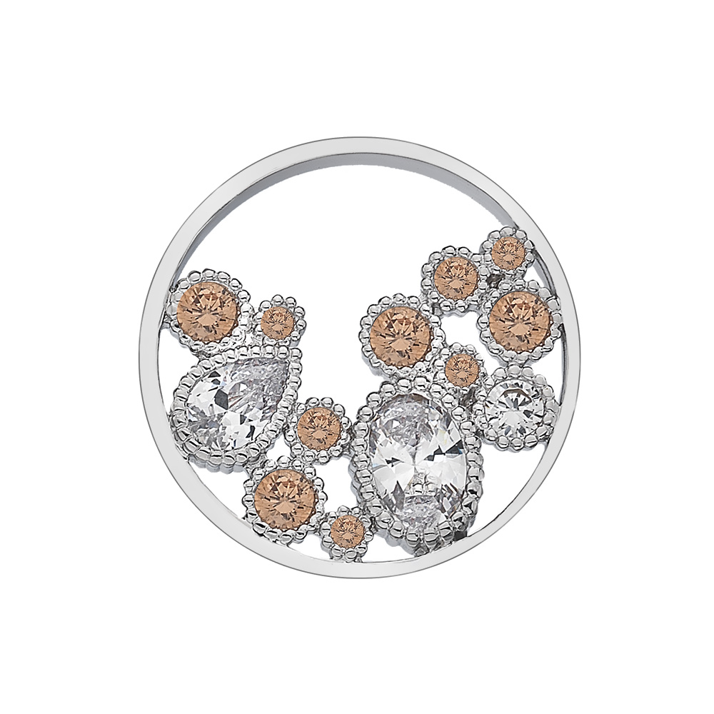 Pøívìsek Hot Diamonds Emozioni Spirito Libero Freedom Champagne Coin 448-449
