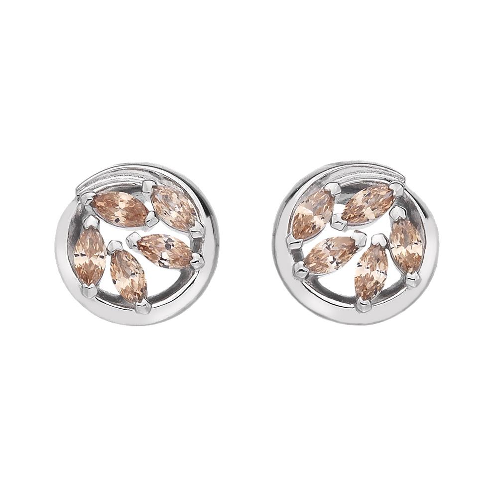 Støíbrné náušnice Hot Diamonds Emozioni Alloro Purity and Loyalty EE027