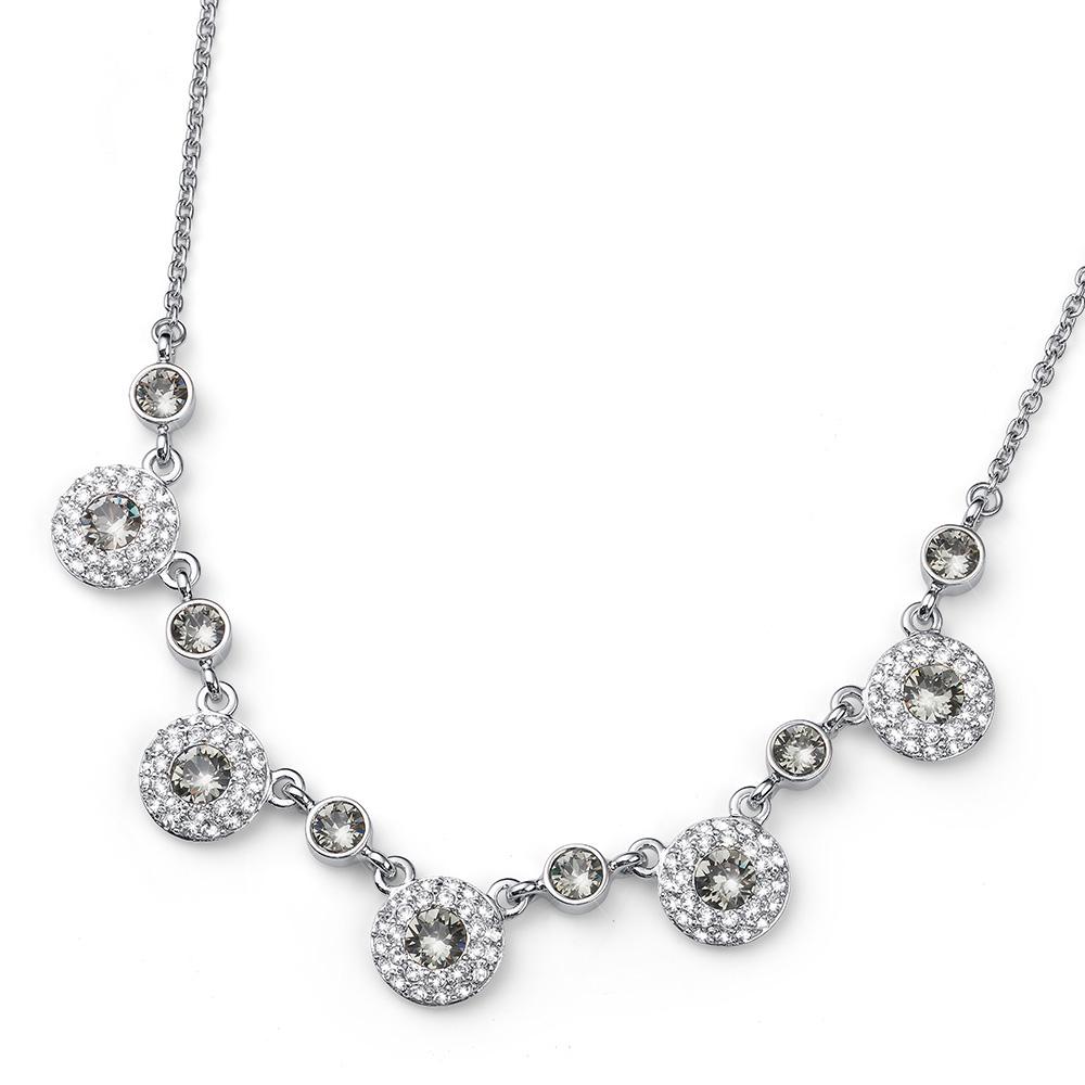 Stříbrný náhrdelník s krystaly Swarovski Oliver Weber 11779
