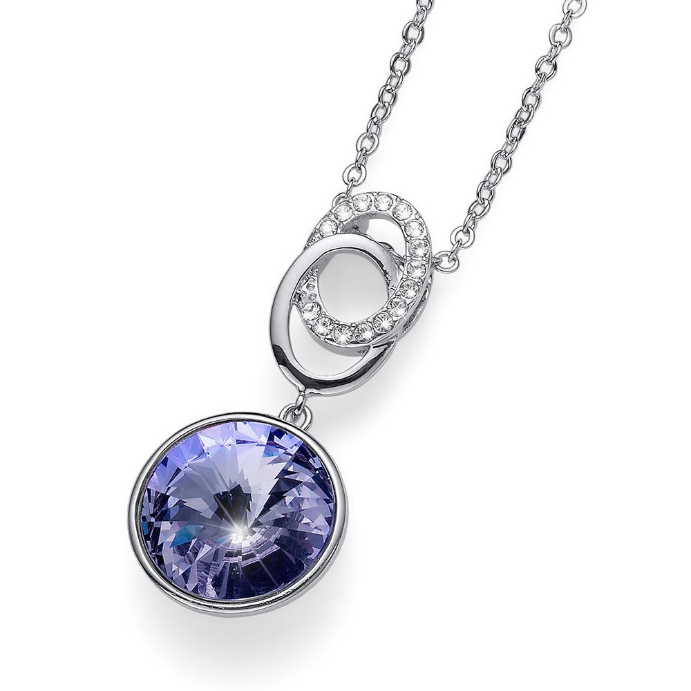 Přívěsek s krystaly Swarovski Oliver Weber Rivoli violet 11820-371