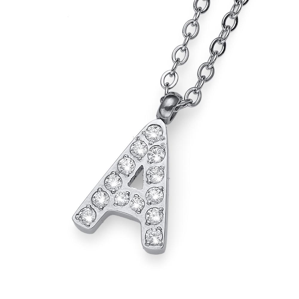 Přívěsek s krystaly Swarovski Oliver Weber Initial A 11830