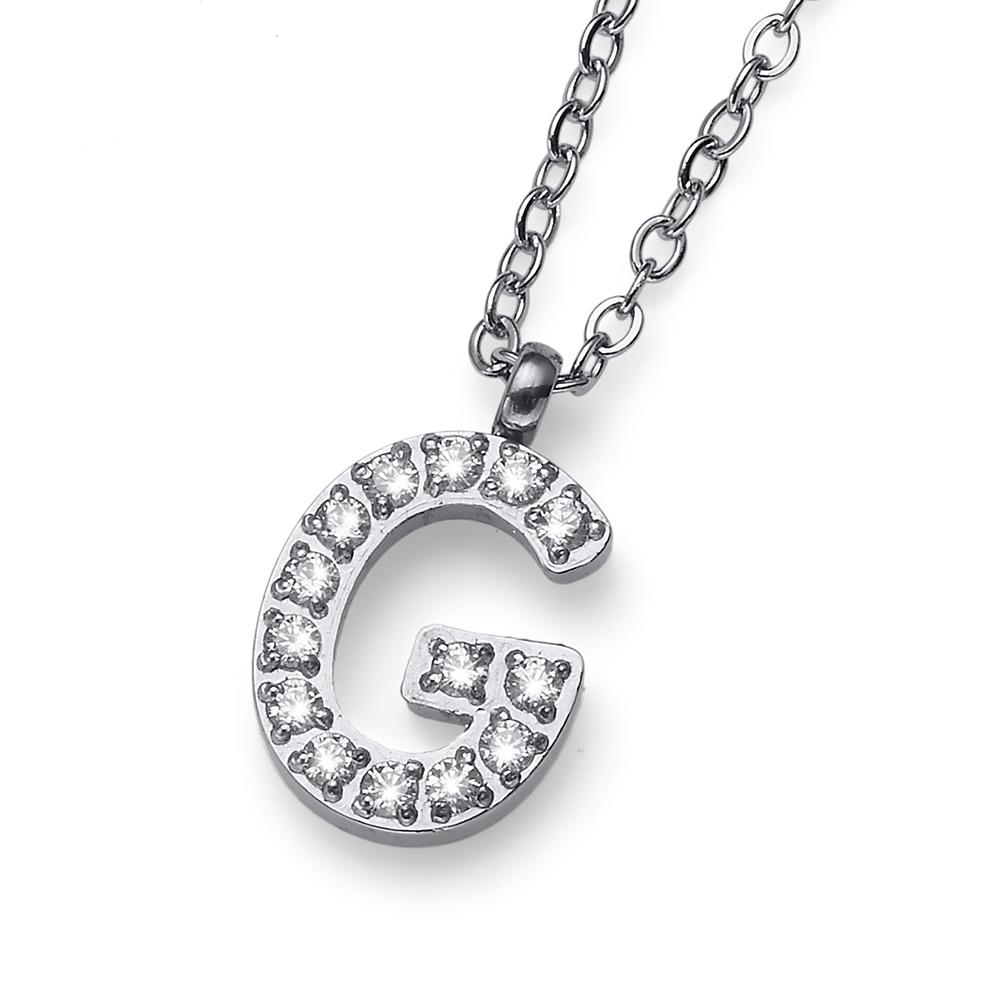 Přívěsek s krystaly Swarovski Oliver Weber Initial G 11836