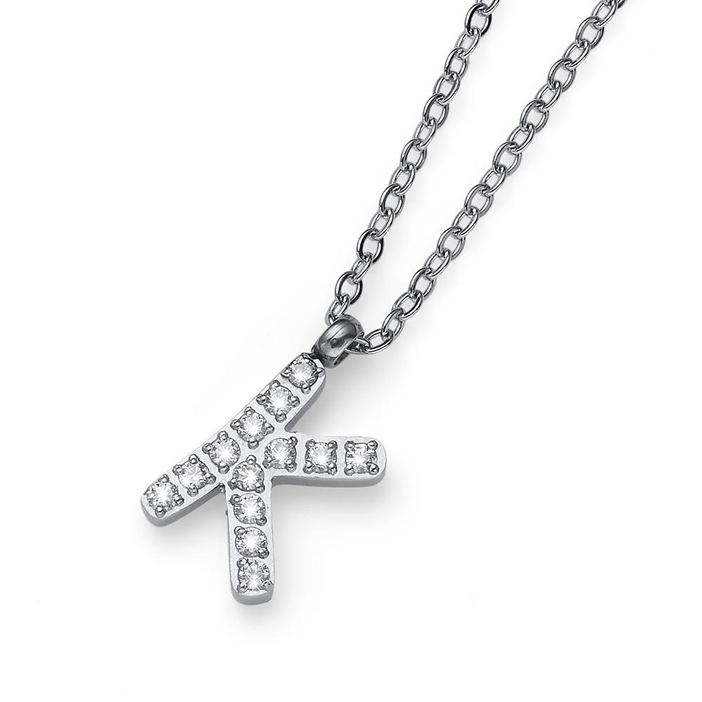 Přívěsek s krystaly Swarovski Oliver Weber Initial K 11840