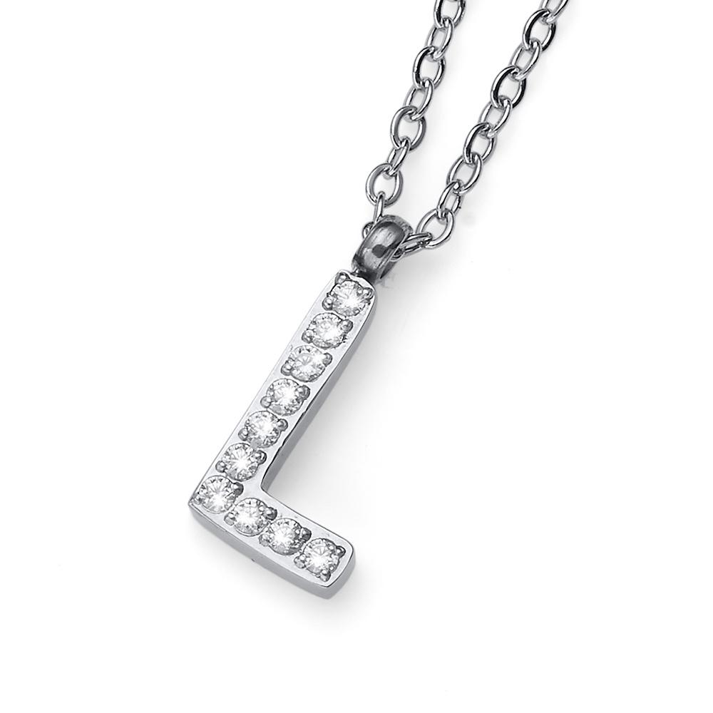 Přívěsek s krystaly Swarovski Oliver Weber Initial L 11841
