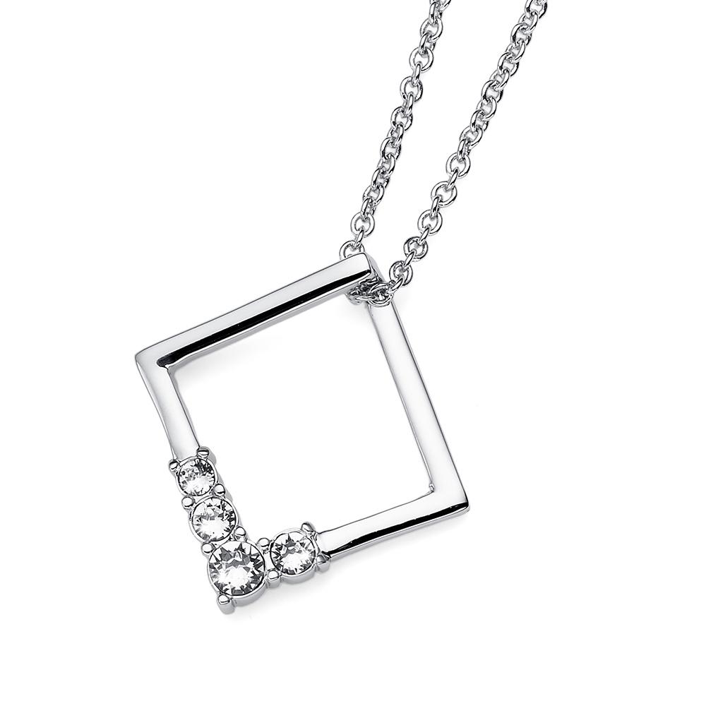 Přívěsek s krystaly Swarovski Oliver Weber Squary 11864