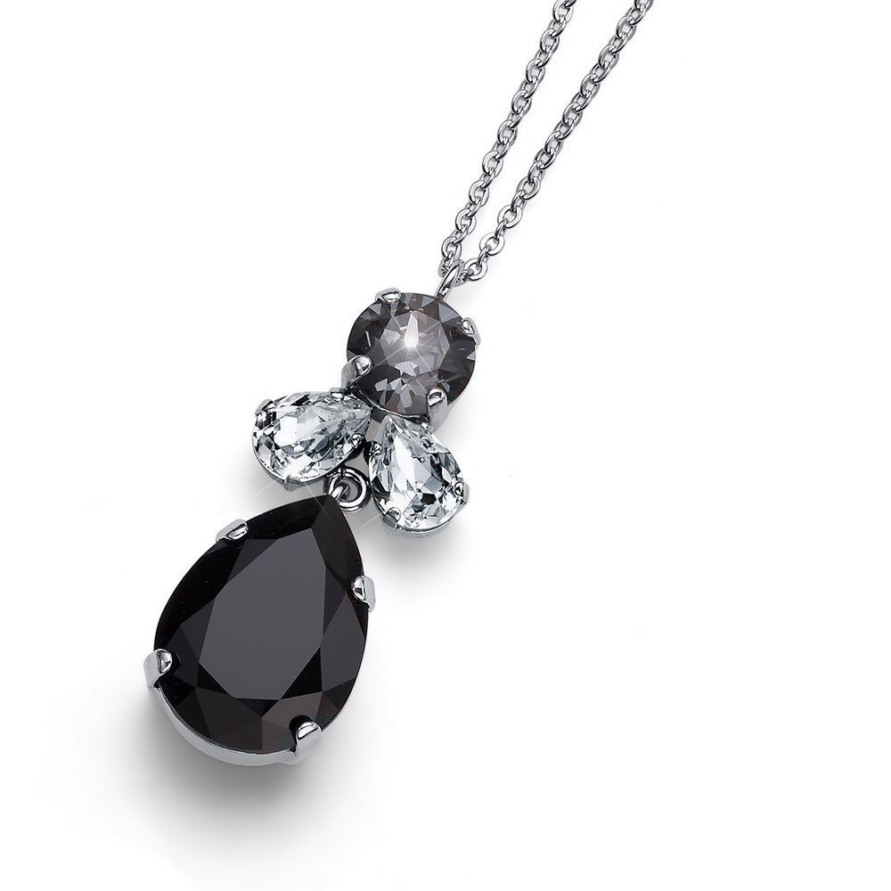 Přívěsek s krystaly Swarovski Oliver Weber Jazzy simple black 11872-BLA