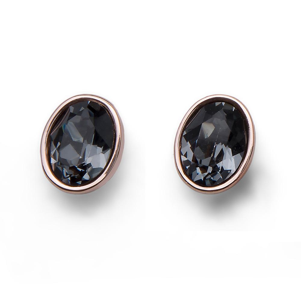 Náušnice s krystaly Swarovski Oliver Weber 22649RG-922