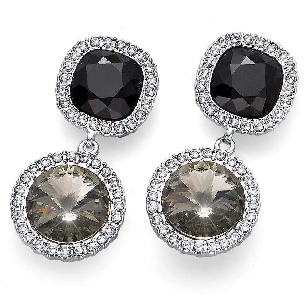 Stříbrné náušnice s krystaly Swarovski Oliver Weber 22658R-215