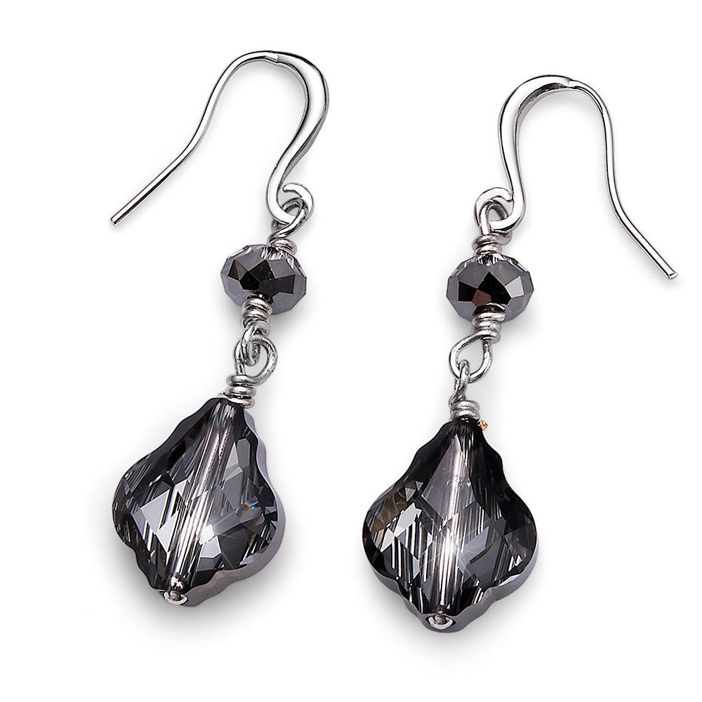 Stříbrné náušnice s krystaly Swarovski Oliver Weber 22666