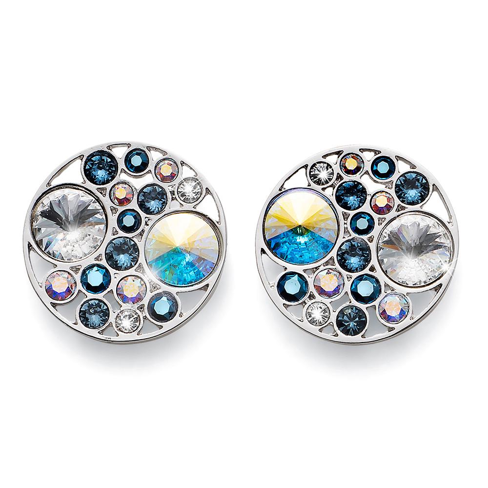Stříbrné náušnice s krystaly Swarovski Oliver Weber 22672-266