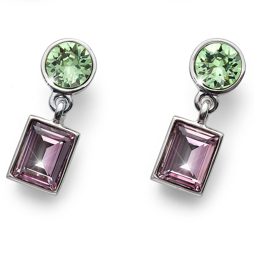 Stříbrné náušnice s krystaly Swarovski Oliver Weber 22683