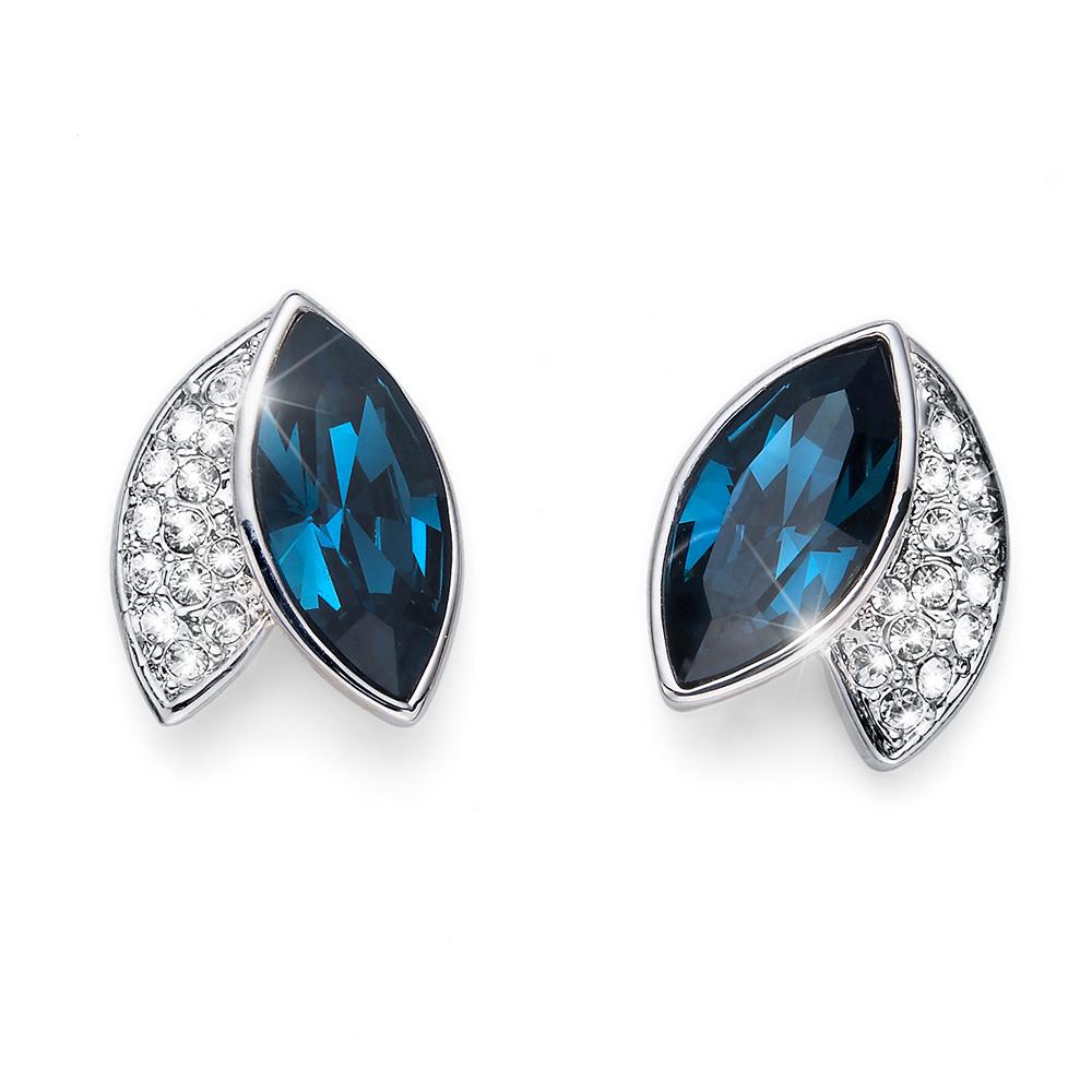 Stříbrné náušnice s krystaly Swarovski Oliver Weber 22686-BLU