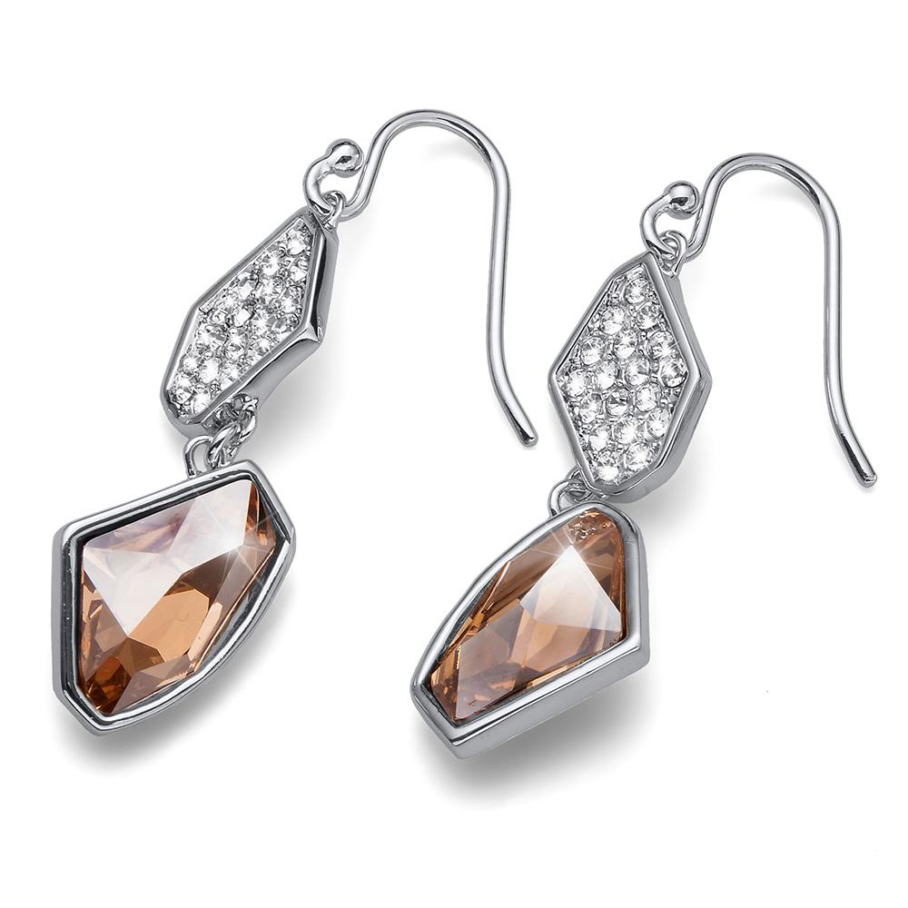 Stříbrné náušnice s krystaly Swarovski Oliver Weber 22689