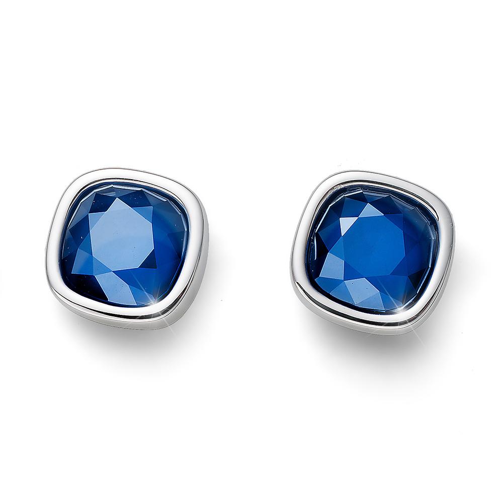 Náušnice s krystaly Swarovski Oliver Weber Royal simple blue 22692-BLU