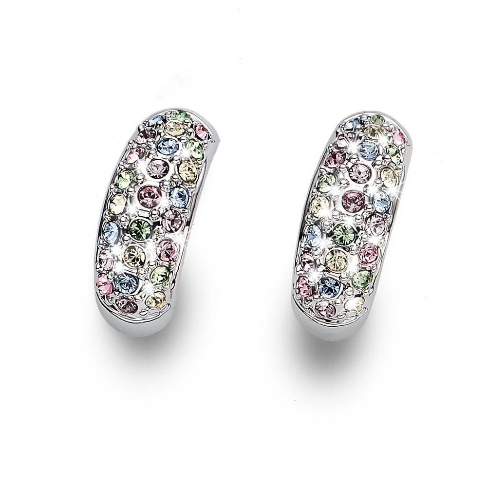 Náušnice s krystaly Swarovski Oliver Weber Floral multi 22702