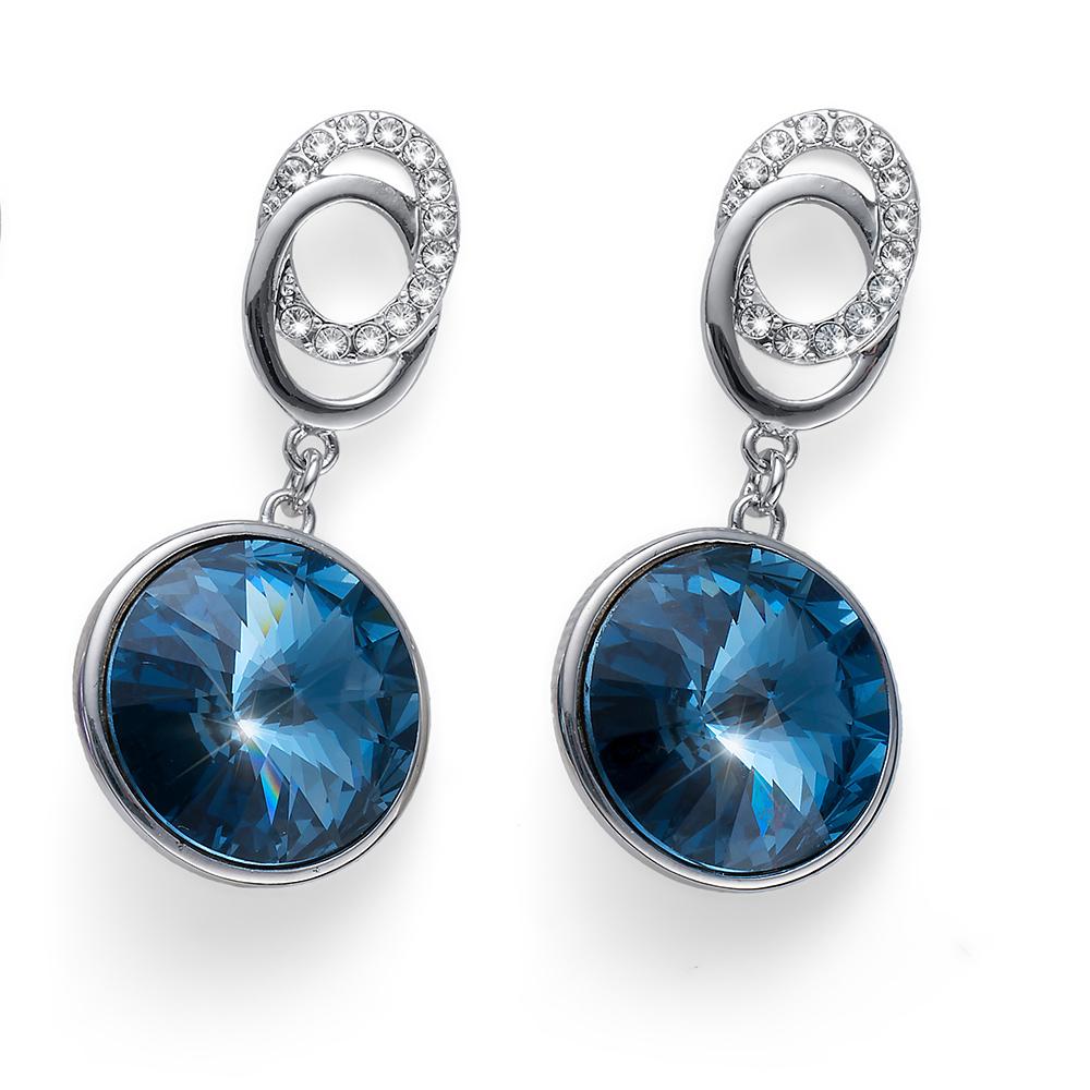 Náušnice s krystaly Swarovski Oliver Weber Rivoli denim blue 22710-266
