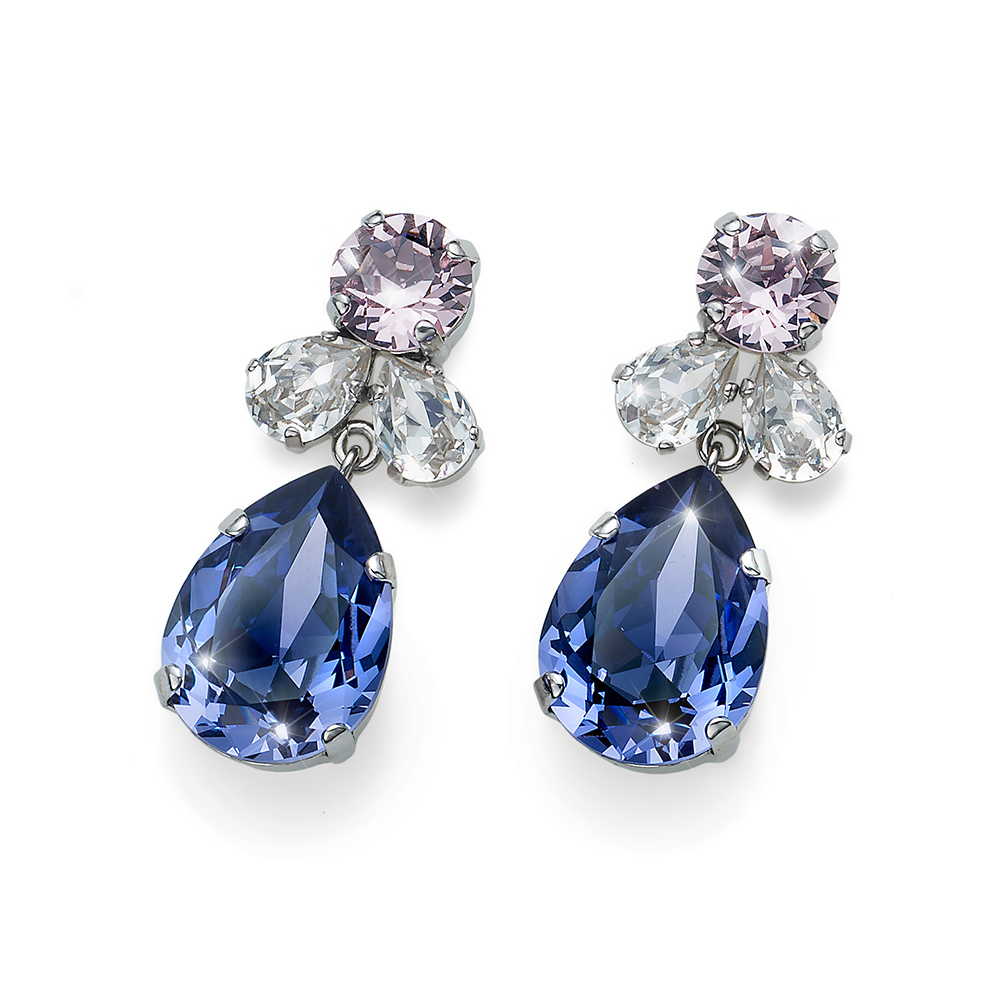 2cde94311 Náušnice s krystaly Swarovski Oliver Weber Jazzy violet 22724-VIO ...