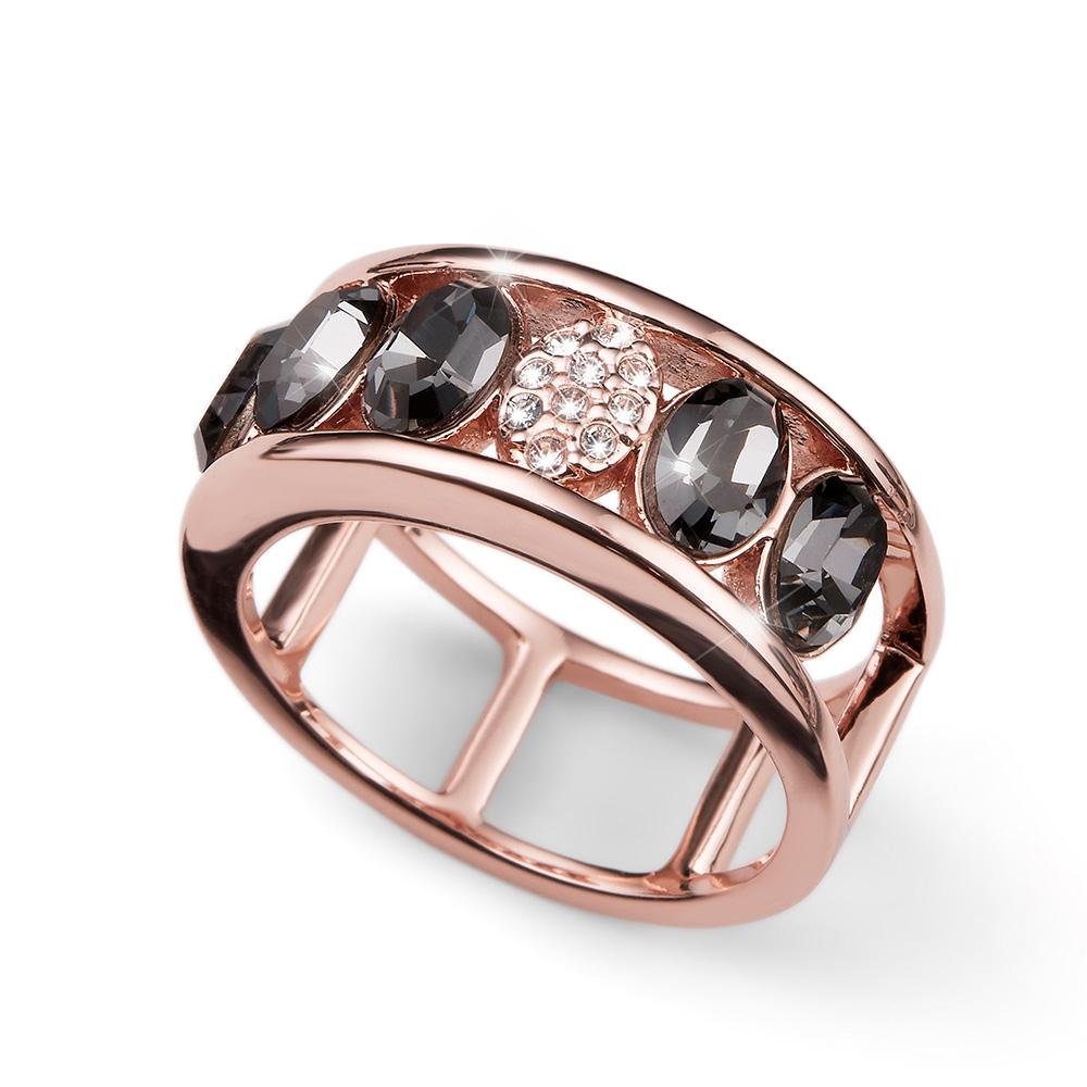 Prsten s krystaly Swarovski Oliver Weber 41137RGL