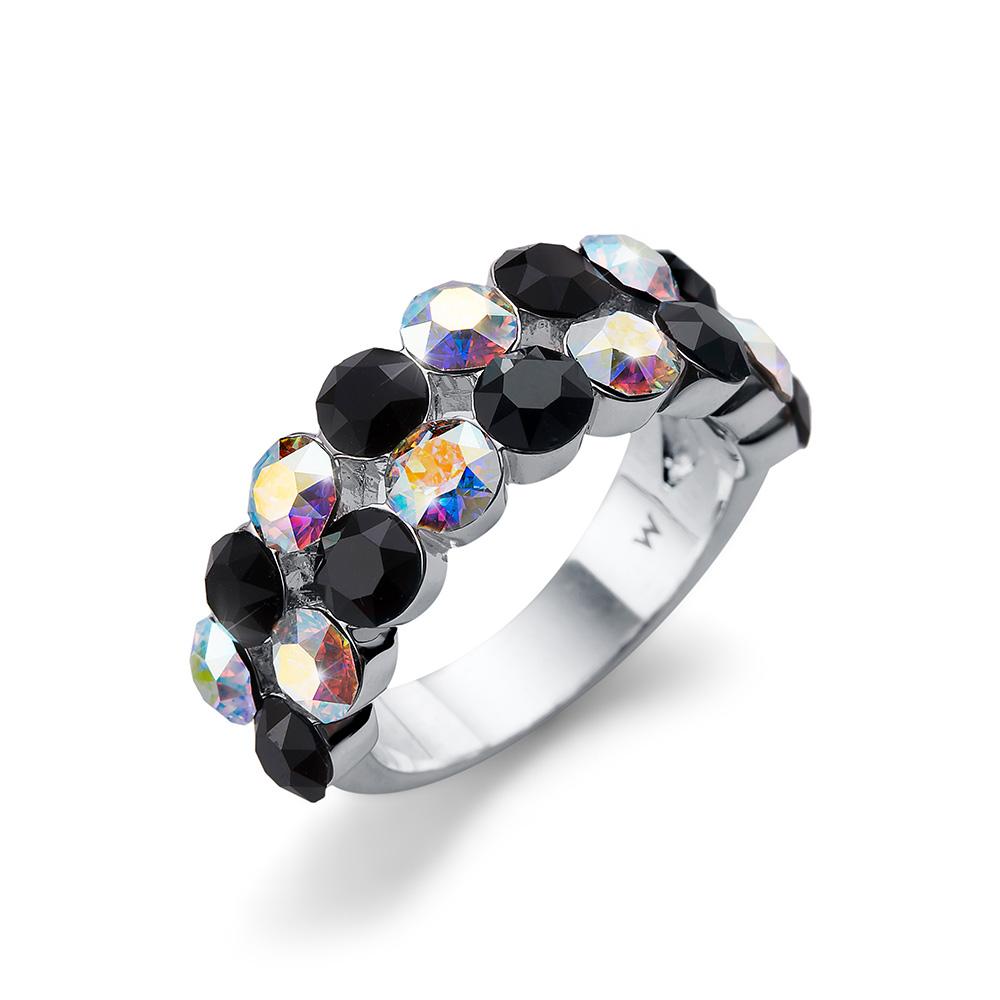 3f4b3dd68 Stříbrný prsten s krystaly Swarovski Oliver Weber 41139L-280 ...