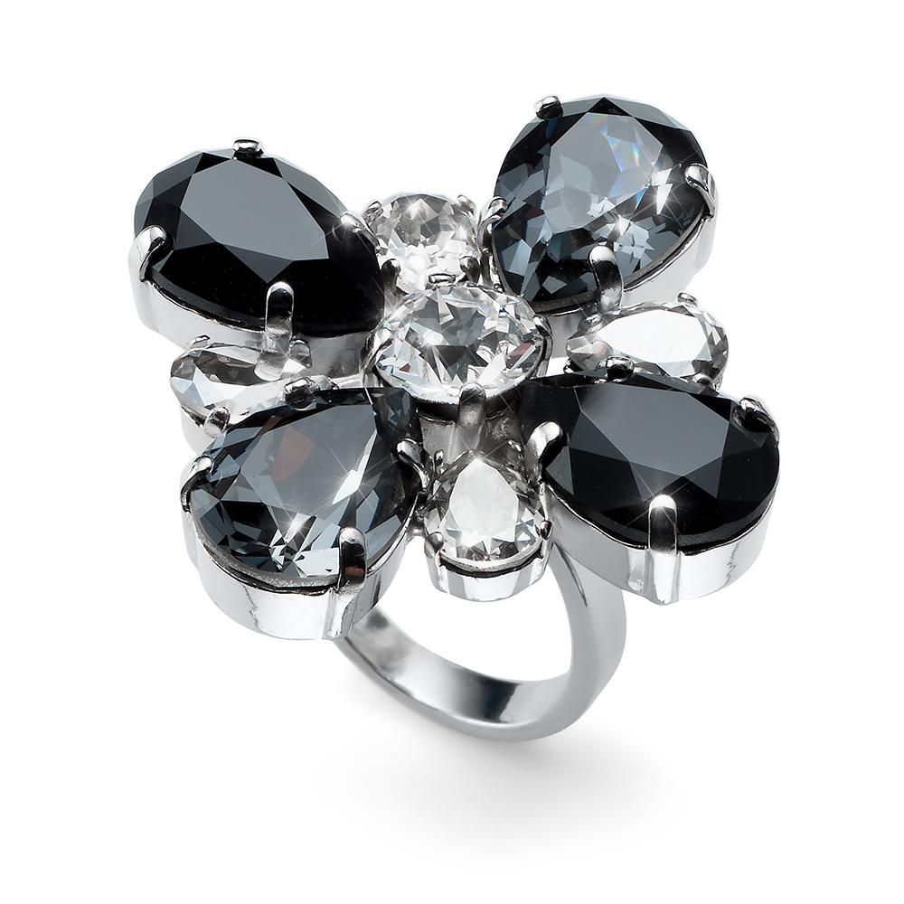 8a7762fdb Prsten s krystaly Swarovski Oliver Weber Ring Jazzy black 41143-BLA ...