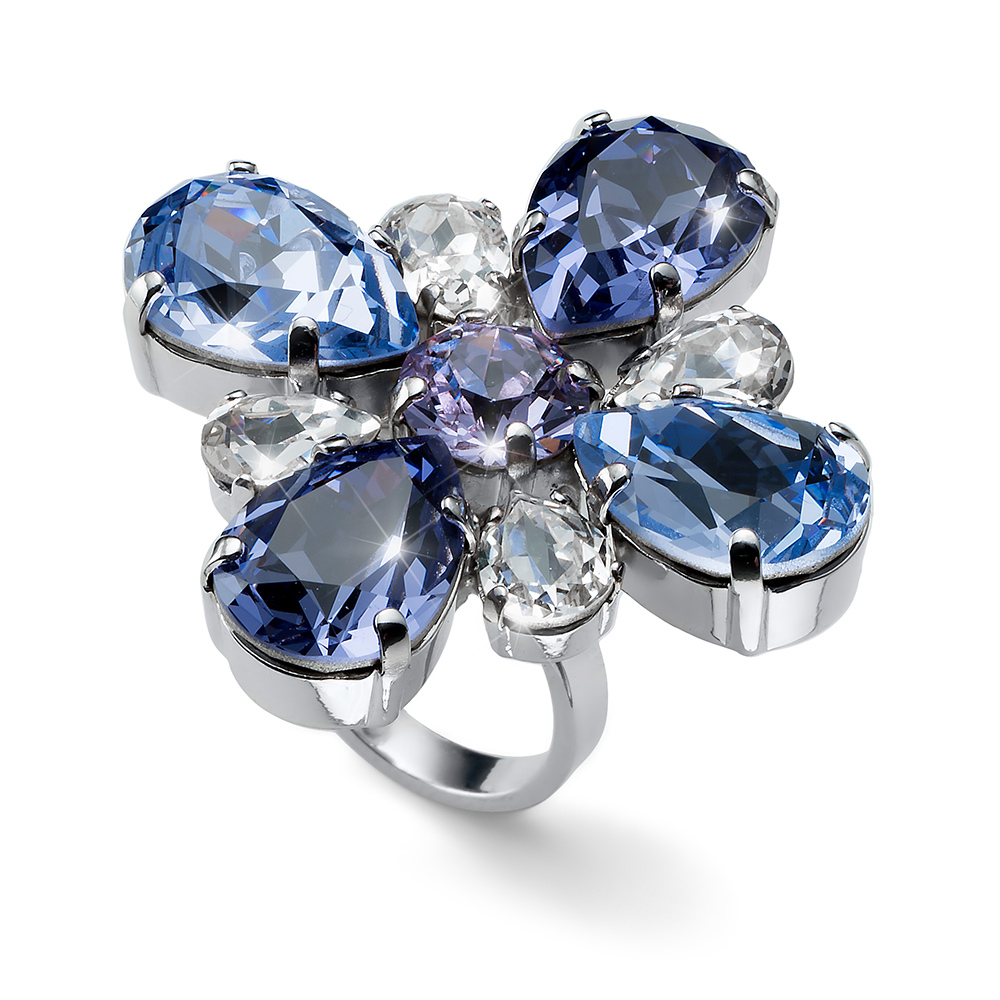 Prsten s krystaly Swarovski Oliver Weber Ring Jazzy violet 41143-VIO